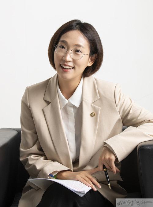 이번 국회에서 차별금지법을 대표 발의한 장혜영 정의당 의원.
