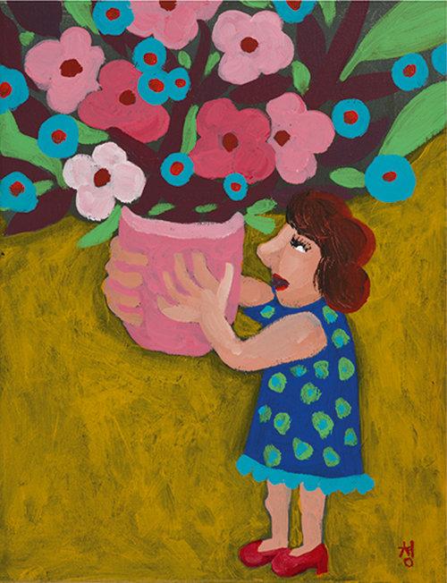 남궁청, 꽃을 바치는 아가씨