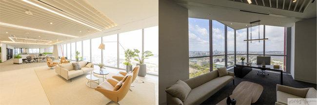 파크원은 넓은 오피스 공간이 강점이다(왼쪽). 초고층 빌딩답게 멋진 뷰를 감상할 수 있다.