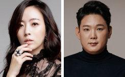 방송에 참여하는 배우 심은진(왼쪽)과 김기남.