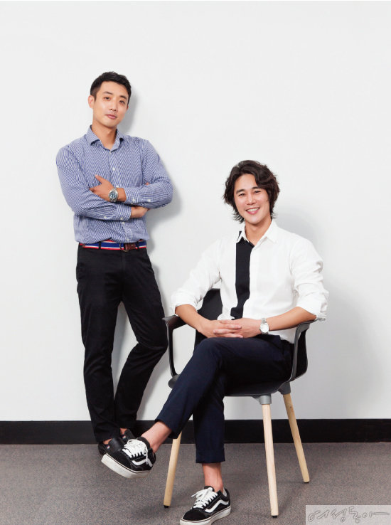 벤투스 컴퍼니 김건우 대표(왼쪽)와  정태우.