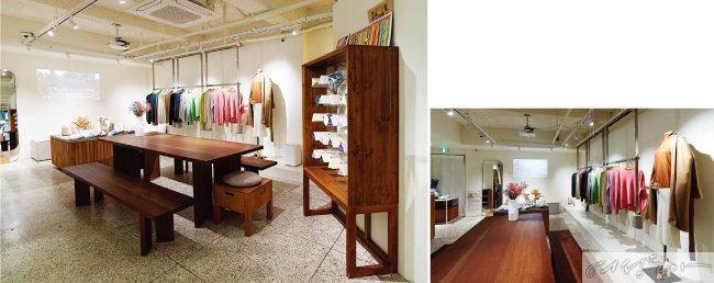 착한 캐시미어 패션 브랜드 '르 캐시이머' 제품을 판매하는 쇼룸.