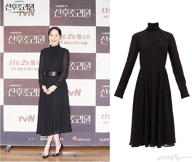 하이넥 주름 크레이프 드레스, 173만원대, 로샤스by매치스패션.