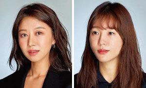 정보영 (아우라뷰티) makeup(왼쪽). 박미형 (아우라뷰티)  hair