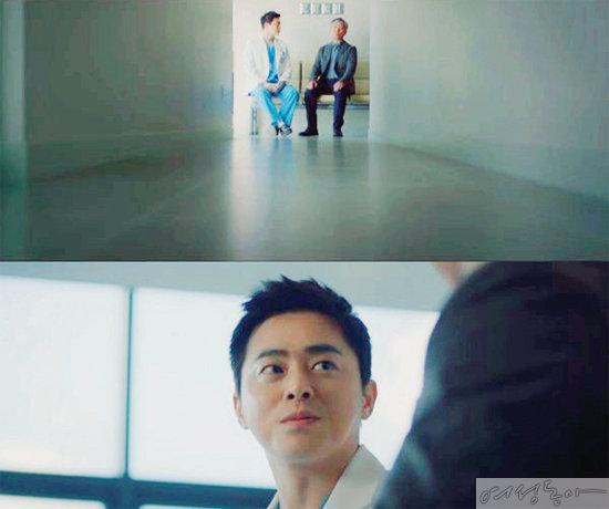 딸에게 간을 이식해주려고 체중을 감량하고 나타난 아버지의 에피소드를 그린 tvN 드라마 '슬기로운 의사생활'의 한 장면.