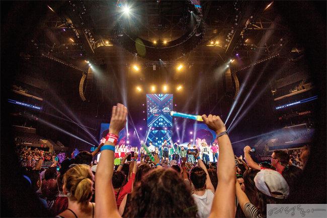 지난 2016년 미국에서 열렸던 케이콘 콘서트 모습.