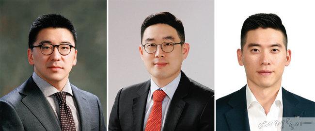 왼쪽부터 구본혁 사장, 구본규 부사장, 구동휘 전무.