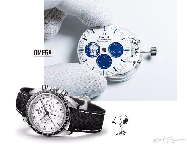 스위스 시계 브랜드 오메가는 '실버 스누피 어워드'를 기념해 2003년과 2015년에 '실버 스누피 어워드' 에디션을 출시했고, 이번에 50주년 기념 세 번째 에디션을 선보였다.