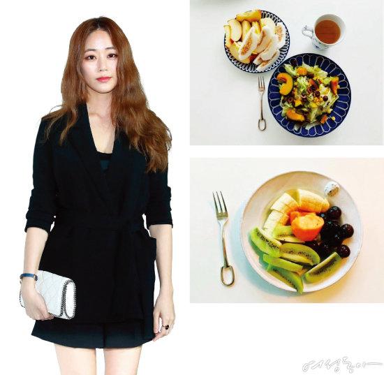 김효진이 SNS에 직접 올린 요리 사진들.