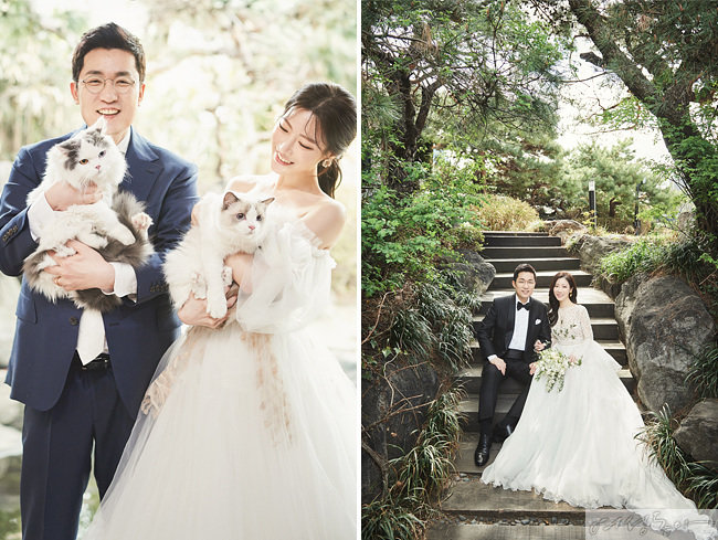 성우인 이민하 씨는 서울대 국악과 졸업 후 성우로 활동하며 애플, 구글플레이, 삼성, SKT, LG, 랑콤, 스타벅스 등의 광고 작업에 참여했다. 두 사람은 반려묘 2마리도 가족으로 맞았다.