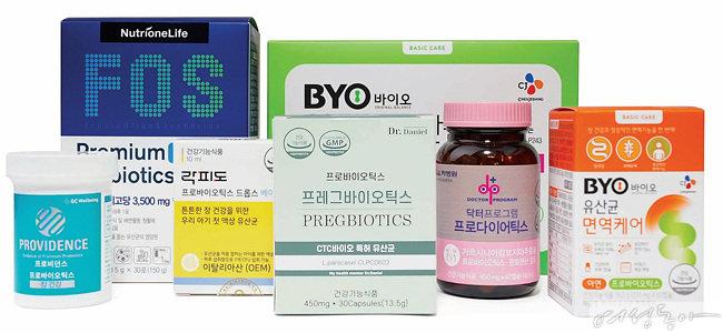 다양한 유산균 제품.  미생물 발효기술과 약물 코팅기술은 물론 내산성이 뛰어난 제품을 구매하는 것이 좋다.