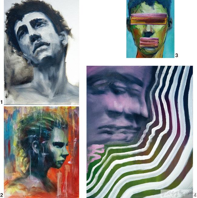 박기웅의 작품들 1 After Basquiat. 2 Concrete Rose. 3 Show me what U got. 4 EgoⅡ.