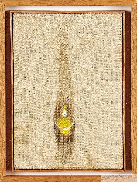 김창열, '물방울', 1977. 김창열 화백 타계 후 지난 3월 8천2백만원에 낙찰된 작품.