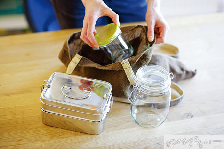 #통큰용기챌린지 일회용 플라스틱· 비닐봉지 대신 다회용기 활용해요!
