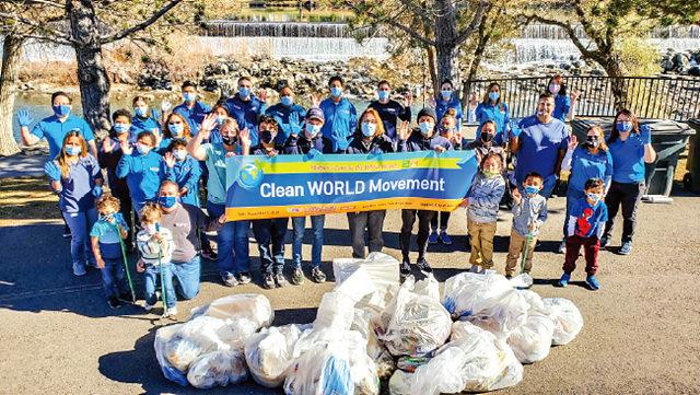 미국 아이다호폴스, 레이턴 회원들이 아이다호폴스강 일대를 정화했다. 현장에는 부모와 함께 어린아이들도 참여해 환경보호의 중요성을 인식했다.