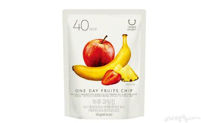 하루 과일칩 10g 40kcal 2천7백원.