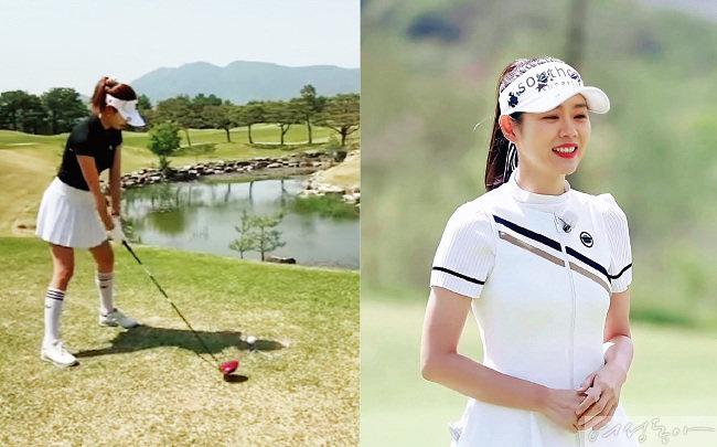 소이현 일동레이크(왼쪽). 손예진 루트52 컨트리클럽