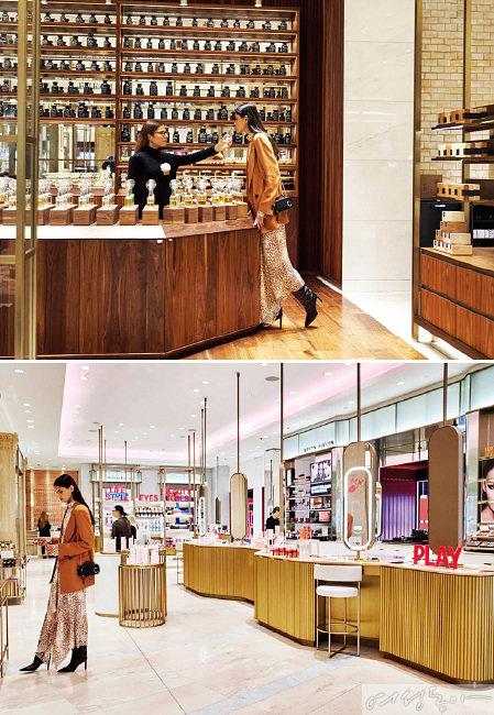 백화점 리뉴얼의 모범사례로 꼽히는 영국 해러즈 백화점 뷰티 매장.