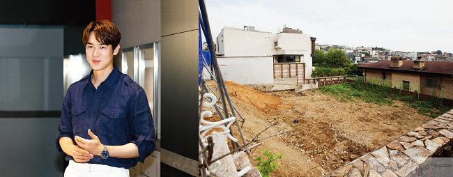 유연석은 올 2월 이태원 단독주택을 매입해 기존 건물을 다 허물고 땅고르기 중이다.