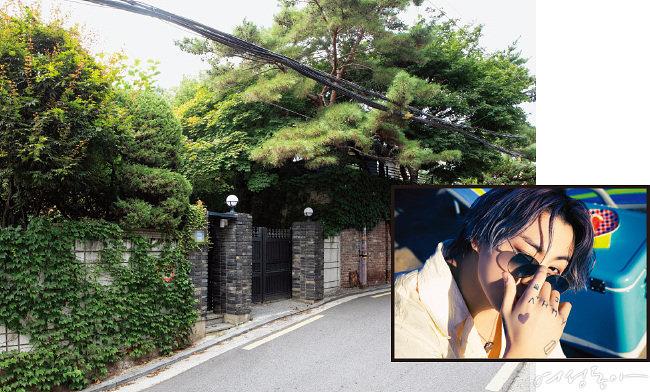 BTS 정국의 이태원 단독주택 모습.