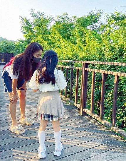고소영과 딸 윤설 양.