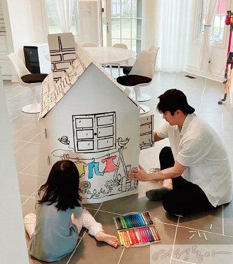 권상우와 딸 리호 양.