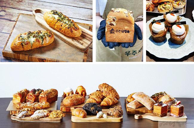 제빵 기술을 익힌 정우주 씨가 직접 고안해 만든 빵들.