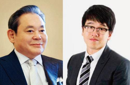고 이건희 삼성전자 회장(왼쪽)과 이선호 CJ제일제당 글로벌비즈니스 담당 부장.