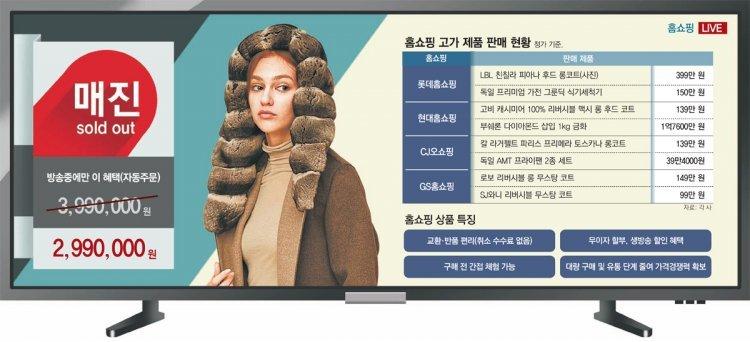 홈쇼핑도 프리미엄 바람… 299만원 코트 완판
