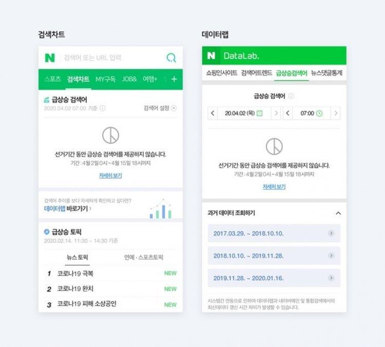 """네이버, 오늘부터 '실검' 잠정 중단…""""총선 공정성 시비 차단"""""""