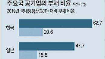 """""""공기업 부채 비율,日-英-加보다 높아… 이중 도덕적 해이 우려"""""""