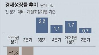 2분기 경제성장률 0.7%… 민간소비가 이끌었다