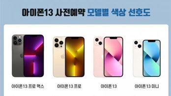 """내달 국내 출시될 '아이폰13'…""""시에라 블루·핑크 색상 선호도 높아"""""""