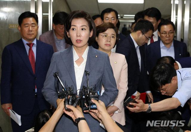 '진격의 나경원' 휘청…국회 정상화 한국당 의원들 '비토' 왜?