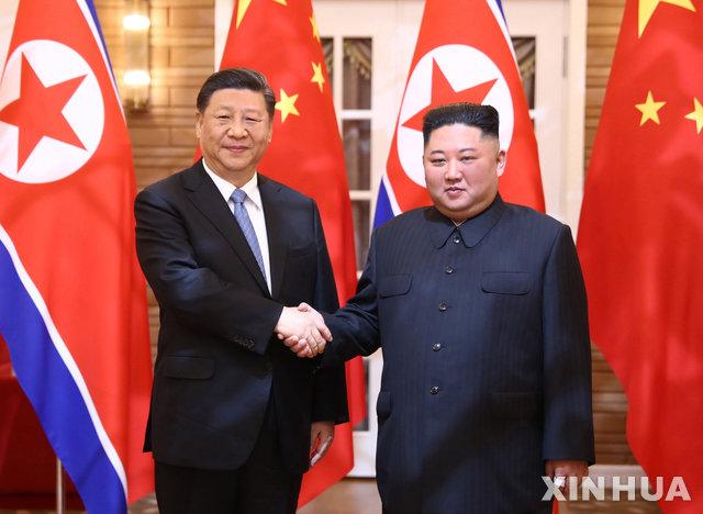 시진핑-김정은, 수교 70주년 축전 교환