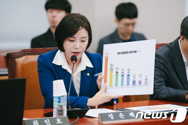 정은혜 민주당 의원, 국감서 하루 3번 옷갈아 입었다는데…왜?