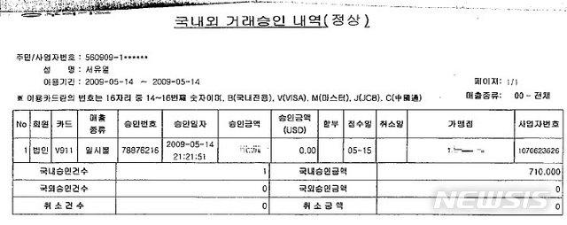 '김성태 무죄' 결정타는…2009년 일식집 법인카드 내역