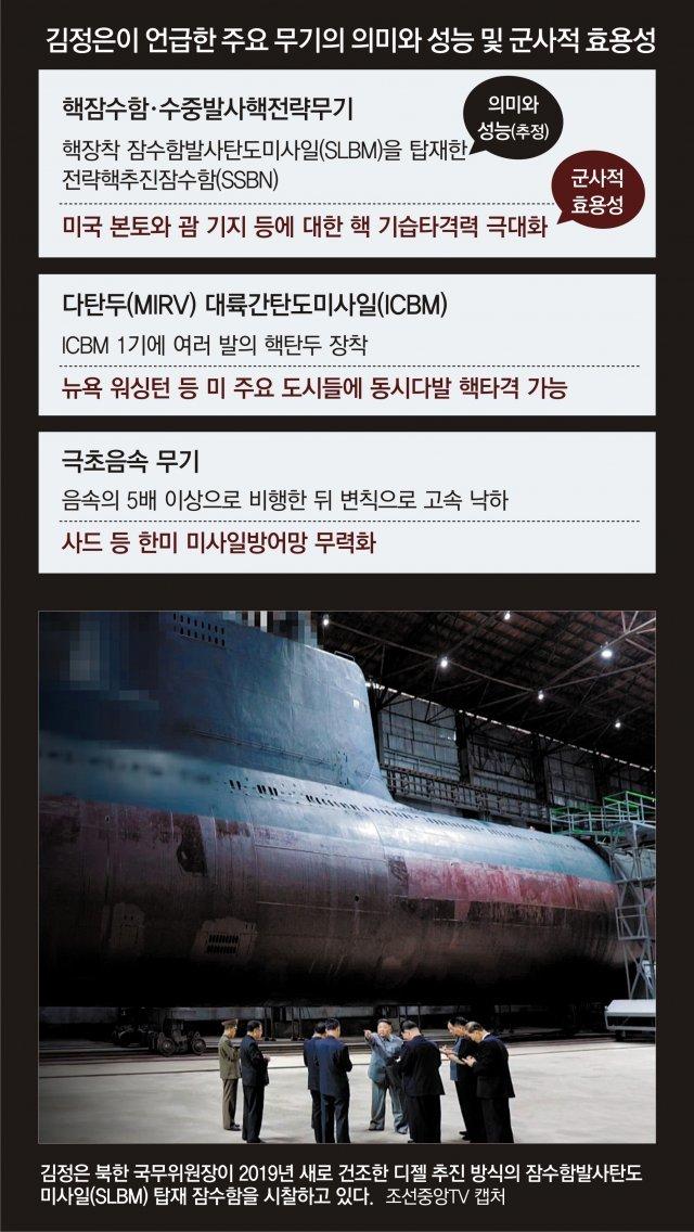 """北 '핵무기 결정판' 전략핵잠 개발 박차… """"설계연구 이미 끝나"""""""