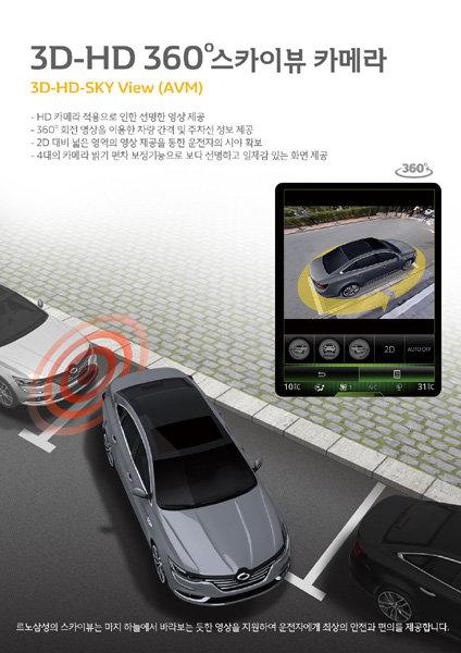 르노삼성자동차, SM6 전용 '3D-HD 360° 스카이뷰 카메라' 출시