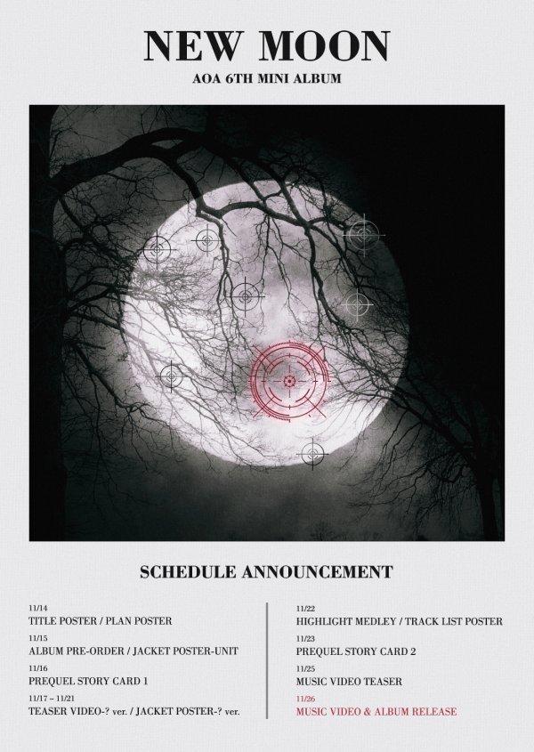'컴백' AOA, 달 사냥 준비 완료…플랜 포스터 공개