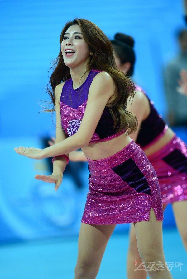 [포토] 치어리더 '핑크스파이더스를 응원해요'