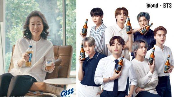 윤여정·BTS·김연경·이병헌, 맥주·빙과업계 '별들의 전쟁'